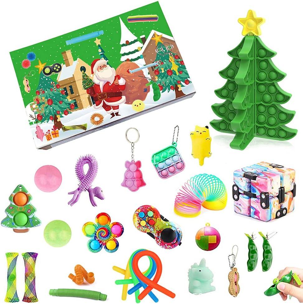 TYFT 2021 Christmas Fidget Advent Calendar Toy Set, 24Days Chris