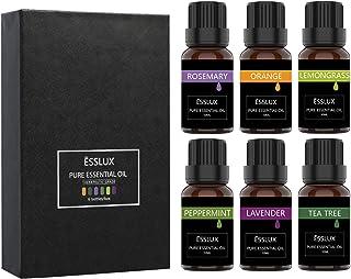 Aceites EsencialesESSLUX Humidificador Perfumada Oils Top 6 Set de Regalo Perfecto Aceites Esenciales para Humidificador ...