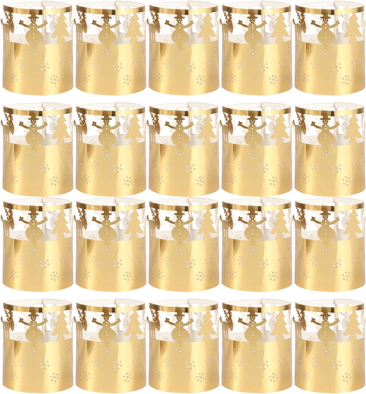 BESTOYARD 50pcs Christmas Votive Max 59% OFF Snowflake Ca Wraps Paper Long Beach Mall