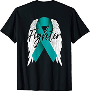 ovarian cancer ribbon with angel wings