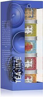 Kusmi Tea Geschenkset Tea Time - 5 Minidosen Aromatee Sortiment - Schwarzer Tee, Earl Grey, Grüner Tee und AquaExotica Früchtetee - 5 Metall Teedosen x 25 gr