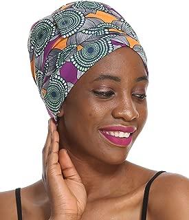 Print Head Wrap & Scarf - Extra Long Turbans, Amazing Soft Hair Wrap