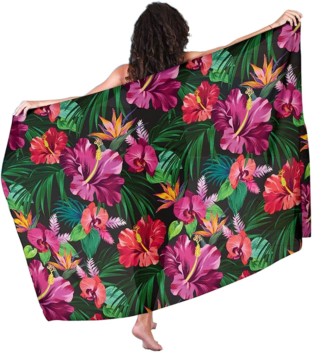 Hawaiian Flower Hibiscus Tropical Sarong Cover Pareo Discount is also underway Up Swimwear Department store