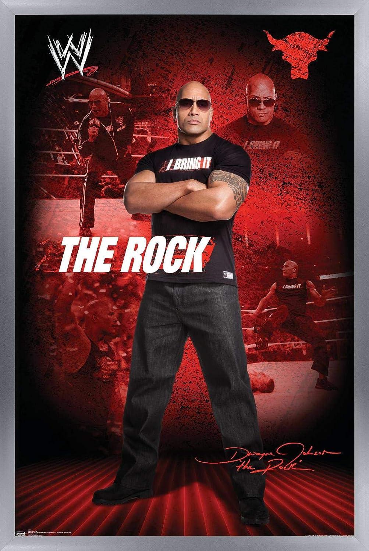 WWE THE ROCK  WRESTLING  WALL GIANT POSTER DWAYNE JOHNSON