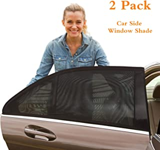 QINGTECH Car Rear Window Sun Shade(Pack of 2), Breathable Mesh Sun Shield Protect Baby Pet from Sun's Glare & Harmful UV Rays, Universal Car Curtains Fit for Cars, Trucks and SUVs