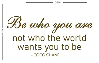 Fabulous Décor: BE WHO YOU ARE - COCO CHANEL Decal Inspirational Girl Empowerment Vinyl Sticker Wall art fashion Positive ...