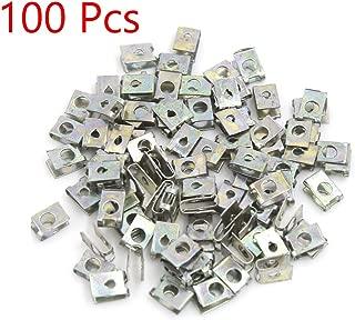 Sydien 5mm/0.19 Inch Hole U-Type Fastener Clips Car Door Pannel Screw Metal Spring Fastener Clip 100Pcs(854)