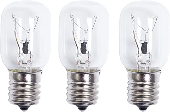 Ultra Durable 8206232A Microwave Light Bulb 40W 125V Replacement Part by Blue Stars - Exact Fit for Whirlpool Maytag Microwaves - Replaces 1890433 8206232 AP4512653 - PACK OF 3