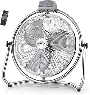 Orbegozo PWM 2147 - Ventilador industrial, 45 cm de diámetro, 3 velocidades de ventilación, mando a distancia, sistema antivuelco, cabezal oscilante multiorientable, 130 W