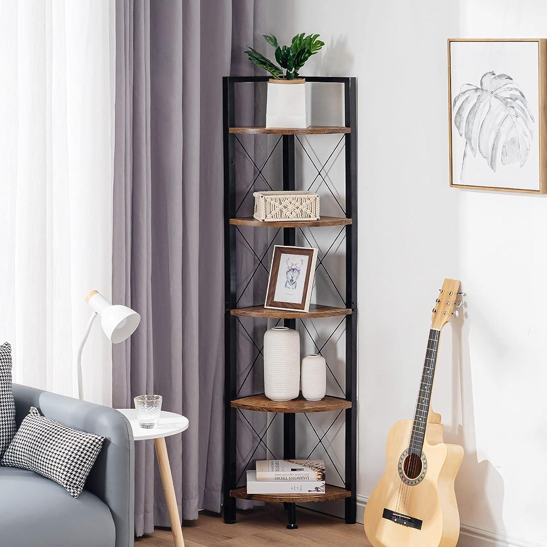 Super sale Fiona's magic Over item handling 5 Tier Corner Shelf Stand Large Tall Books