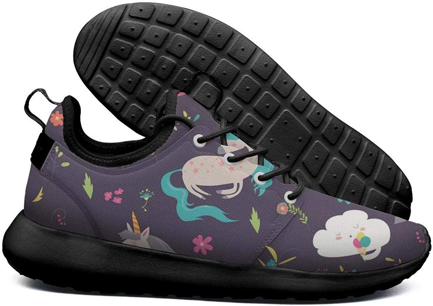Opr7 Happy Day Unicorn Rainbow Running shoes Lightweight for Women Sneaker Lace-up Breathable