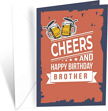 Prime Greetings Cheers and Happy Birthday Card Brother