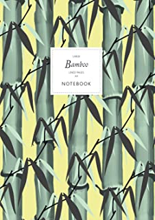 Bamboo Notebook - Lined Pages - A4 - Large: (Yellow Edition) Notebook 192 lined pages (A4 / 8.27x11.69 inches / 21x29.7cm)