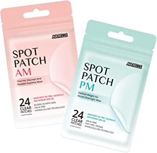 Acne Spot Patch AM+PM Daytime Absorbing Cover Patch Hydrocolloid, Tea Tree Calendula, Rosehip Seed Oil (AM+PM / 48 PATCHES)