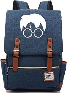 Mochila universitaria para niños Adecuada para computadora portátil, Tableta, Viaje de Campamento, Harry Backpack Large Navyblue