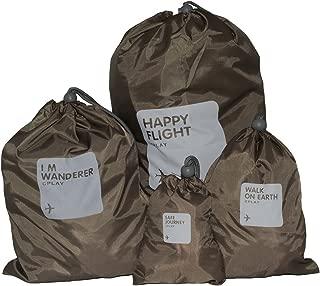 BINGONE Nylon 4-in-1 Drawstring Bags/Ditty Bag/Cord Bag Storage Travel Use 4 Size