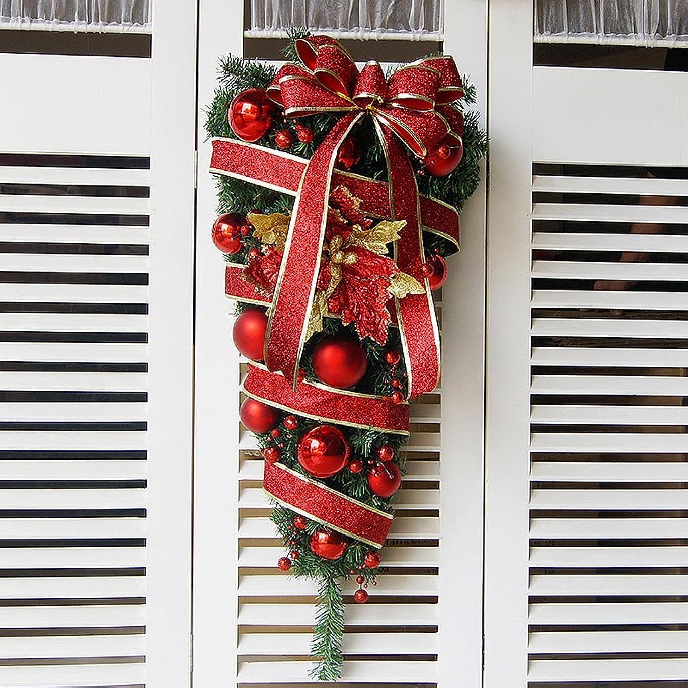 干ばつドラム実現可能性クリスマスの花輪のドアの装飾品クリスマスの装飾 ( 色 : 赤 , サイズ さいず : 60 cm 60 cm )