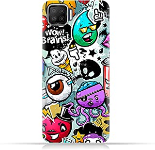 AMC Design TPU Mobile Case Cover for Oppo F17 with Bizarre Characters Pattern