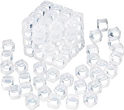 Relaxdays IJsblokjes herbruikbaar, 100 stuks, duurzaam plastic, drankjes koelen, partyijsblokjes