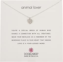 Dogeared - Animal Lover, Heart with Paw Necklace