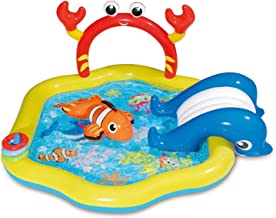 Summer Waves 6.4ft x 34in Inflatable Under The Sea Kiddie Swimming Pool w/Slide