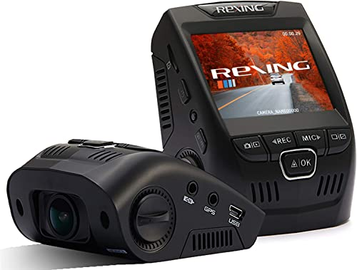 """Rexing V1 Basic Dash Cam 1080P FHD DVR Car Driving Recorder with Sony Exmor Video Sensor, 2.4"""" LCD Screen 170°Wide An..."""