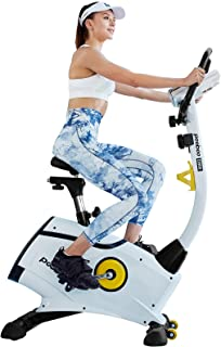 L NOW Exercise Bike, Indoor Cycling Bike, Belt Drive Stationary Bike, Magnetic Resistance Upright Bike With LCD Display for Women Wen Senior Home Office Cardio Workout Bike Training