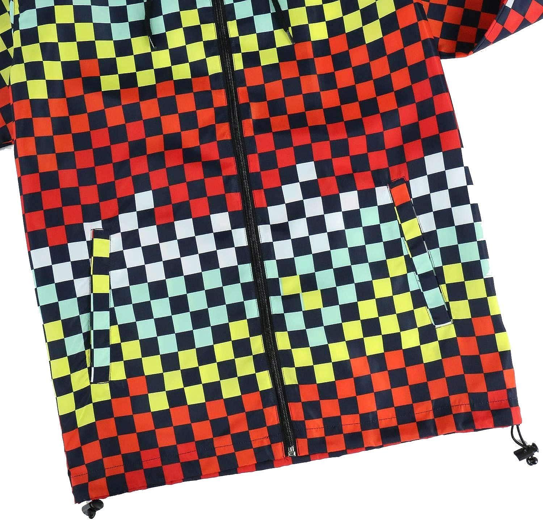 Men's Water Resistant Hoodie Silm fit long sleeve Lightweight Street Waterproof Shell