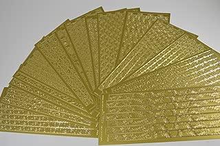 Elizabeth Craft Designs Ribbon Swirls Peel Off Stickers 4x9 Sheet: Gold