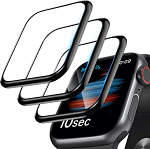 [3 Pack]Screen Protector for Apple Watch Series 3/2/1 38mm, 3D Curved Edge Anti-Scratch Bubble Free HD Ultra Flexible PMMA Protector Film Compatible with Apple iWatch Series 3/2/1