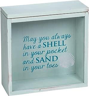 Foreside Home & Garden FDAD06158 Shells & Sand Keepsake Box
