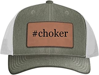 One Legging it Around #Choker - Hashtag Leather Dark Brown Patch Engraved Trucker Hat