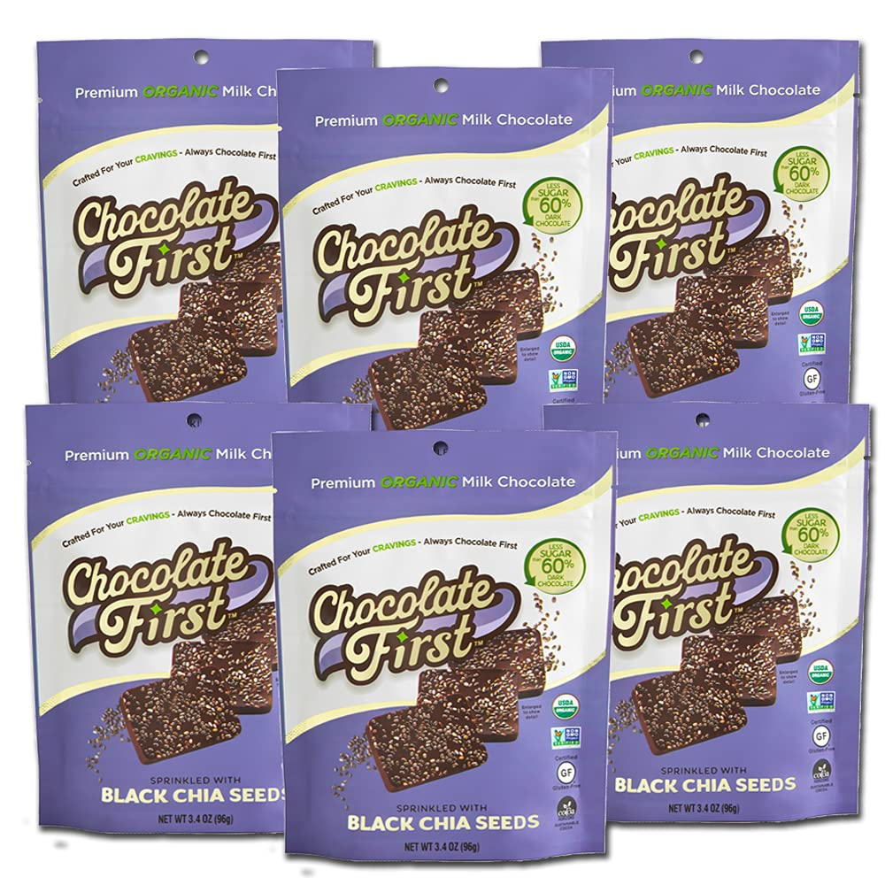 Chocolate First- Low Sugar Organic Chi Black Milk with High quality New Shipping Free