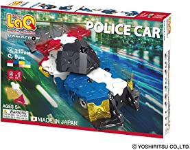 LaQ Hamacron Constructor POLICE CAR - 5 Models, 210 Pieces - Creative Construction Toy