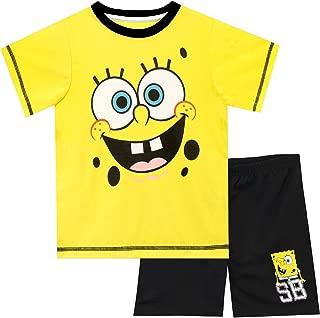 boy in spongebob pajamas