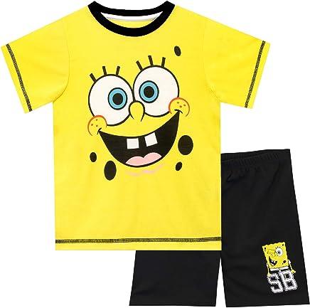 Bob Esponja Pijamas de Manga Corta para niños Sponge Bob Squarepants