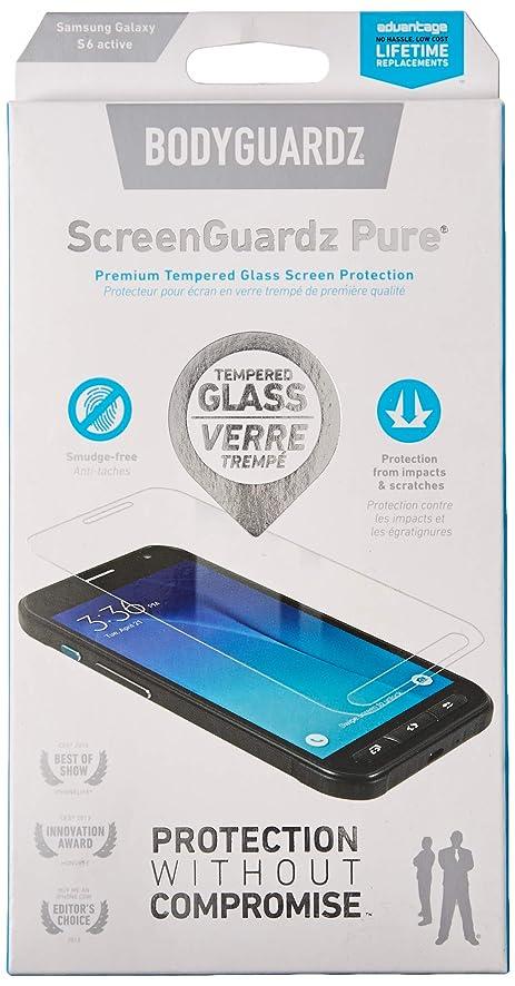 BodyGuardz Pure Glass Screen Protector for Samsung Galaxy S6 Active