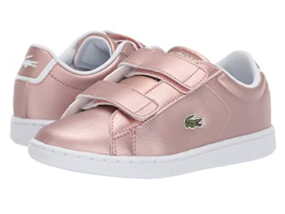 Lacoste Kids Carnaby Evo Strap 319 2 (Little Kid) (Pink/White) Kid
