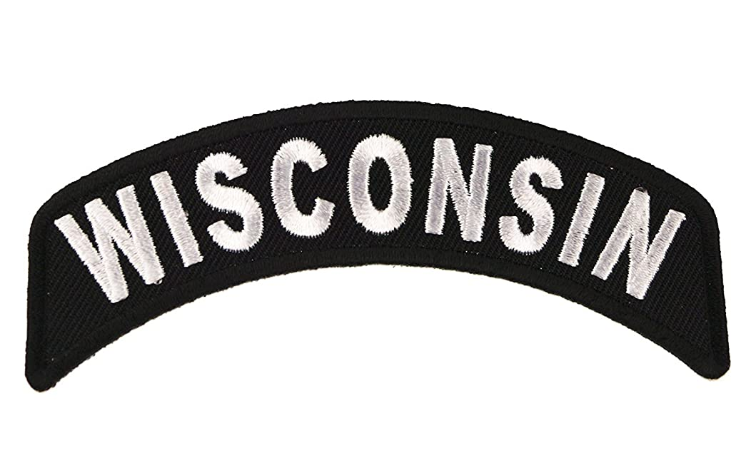 Wisconsin State Rocker Iron or Sew on Embroidered Shoulder Patch D37
