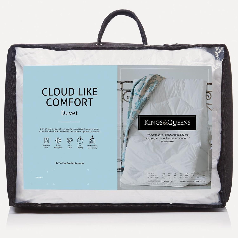 Fine Parure de lit Company Kings et Queens hypoallergénique Cloud comme Un Confort 4,5Tog couettes Super King Taille