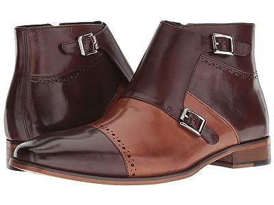 Stacy Adams Kason Cap Toe Double Monkstrap Boot (Brown/Saddle Tan) Men
