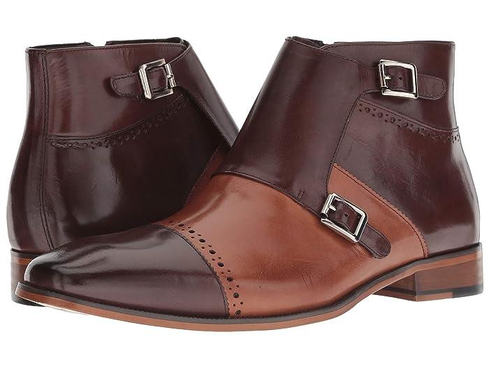 Steampunk Boots and Shoes for Men Stacy Adams Kason Cap Toe Double Monkstrap Boot BrownSaddle Tan Mens Lace Up Cap Toe Shoes $130.00 AT vintagedancer.com
