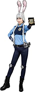 CosFantasy Adult & Kids Judy Hopps Cosplay Costume with Ears Tail Badge mp003478