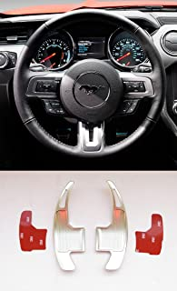 Pinalloy Silver Aluminum Steering Paddle Shifter Extension for Ford Mustang 15-17