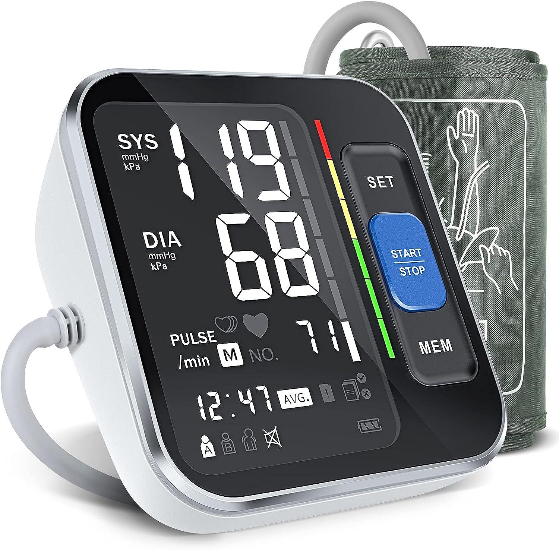 Tensiómetro de Brazo Digital - Monitor de Presión Arterial Automatico con Manguito Presión del Brazo Superior 8.7