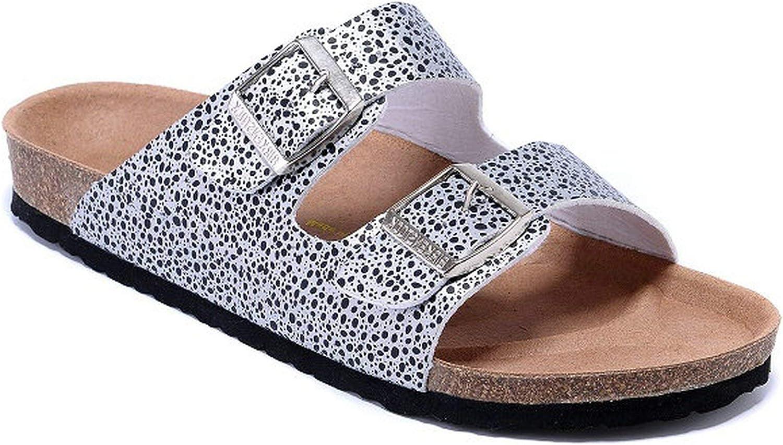 HANBINGPO 2019 Original Slippers Men Summer Arizona Soft Sandals Men Leather Unisex shoes Beach Slippers 802 Cork Sandals
