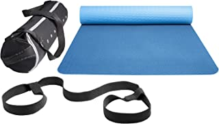 DreamYoga Yoga Mat with Carrying Strap and Premium Bag. Lightweight TPE, Large Non-Slip Exercise Mat for All Types of Fitness and Pilates (183cm x 61cm x 6mm)