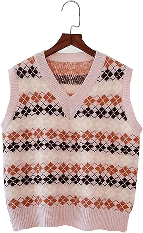 5 popular Ethnic Classic Boho Women Tops Sptring Kore Vest Sleeveless Sweater Knit