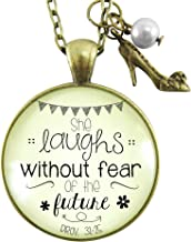 she laughs proverbs necklace