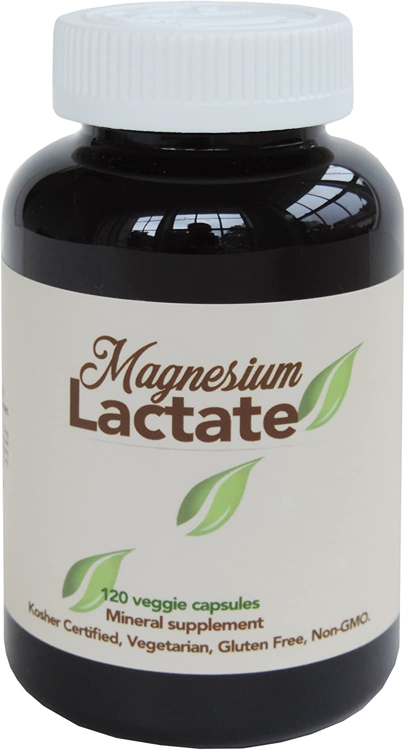 Magnesium Lactate 500 mg per Serving Elegant Swallow to Max 54% OFF Easy 120 Small